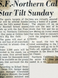1960: 14th Annual SF Examiner All-Star Championship Game