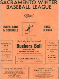 1962 Sacramento Winter League