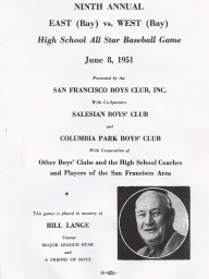 1951: Eight Annual East vs. West High School All-Stars