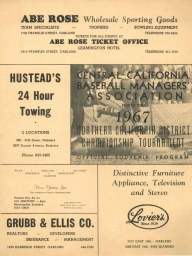 1967: Central Calif. Baseball Managers Association