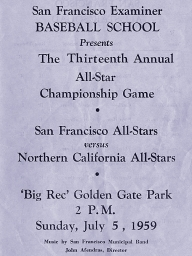 1959: 13th Annual SF Examiner All-Star Championship Game