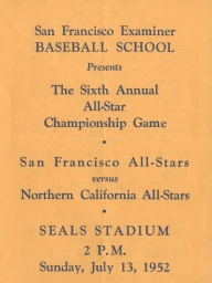 1952: 6th Annual SF Examiner All-Star Championship Game