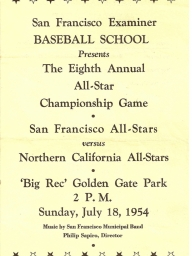 1954: 8th Annual SF Examiner All-Star Championship Game