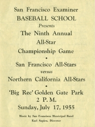 1955: 9th Annual SF Examiner All-Star Championship Game