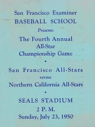 1950: 4th Annual SF Examiner All-Star Championship Game