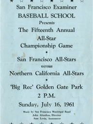 1961: 15th Annual SF Examiner All-Star Championship Game