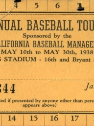 1938 First Annual Championship Tournament