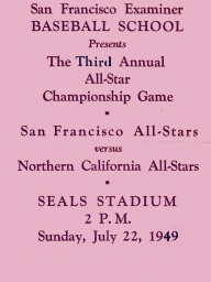 1949: 3rd Annual SF Examiner All-Star Championship Game