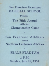 1951: 5th Annual SF Examiner All-Star Championship Game