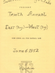 1952: Ninth Annual East vs. West High School All-Stars