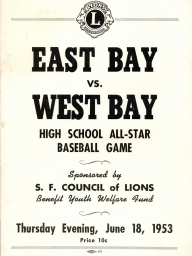 1953: Tenth Annual East vs. West High School All-Stars